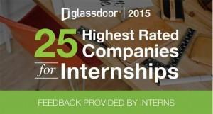 Classement Glassdoor des meilleurs sociétés pour un stage aux Etats-Unis