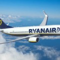 Avion Ryanair en plein vol
