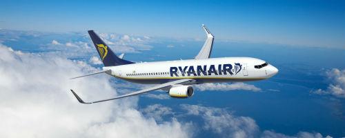 Avion Ryanair en plein vol