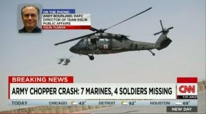 Crash d'hélicoptère militaire à Eglin (Floride, Etats-Unis)