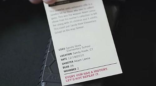 arme de la fusillade de Sandy Hook - capture d'écran