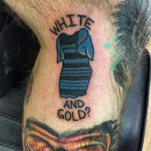Tatouage #TheDress, la robe bleue et noire qui crée la polémique